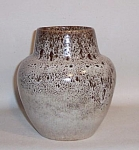 Click here to enlarge image and see more about item 5030: Ballard bulbous studio mottled white vase