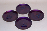 Bovano set 4 Mulberry jewel coasters