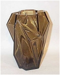 Click here to enlarge image and see more about item 1979: Ruba rombic smoky topaz 6 inch vase