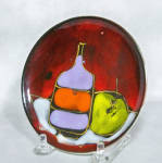 Click to view larger image of Midcentury Italian small hanging retro plate (Image2)