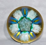 This Edwards Star Gumps blue 5 jewel enamel plate measures 9 3/4 inches wide.   