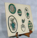 Click here to enlarge image and see more about item 6288: Bennington Potters #1535  Trivet/Plaque