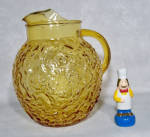 Click here to enlarge image and see more about item 6392: Anchor Hocking Lido Honey Gold ball jug