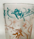 Click to view larger image of 3Hazel-Atlas pink Ice Skaters Zombie tumblers (Image2)