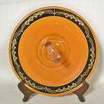 Click to view larger image of Art Deco orange black sandwich server (Image1)