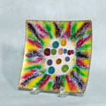 Click here to enlarge image and see more about item 7300: Harold Tischler 5 inch square jewel bowl