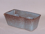 Click to view larger image of Ballard #82 2 lite blue brown candleholder (Image1)