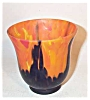 Click to view larger image of Czech 4 inch satin orange colbalt glass urn (Image2)