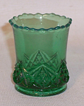 toothpick holder: Diamond Spearhead green