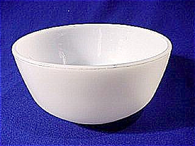 Small White Utility Bowl By Fire King