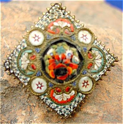 Italian Mosaic Pin (Image1)