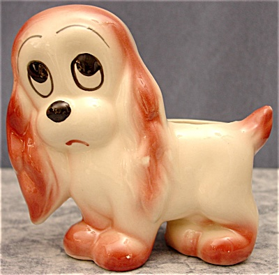 Vintage Wide-Eyed Puppy Dog Planter (Image1)