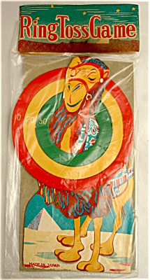 1950s Die Cut Litho Camel Ring Toss Game (Image1)