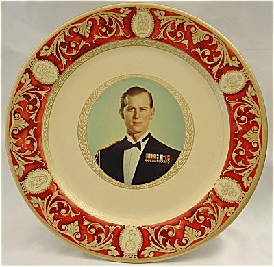 H.R.H. Prince Phillip, The Duke of Edinburgh Portland Ware Plate (Image1)