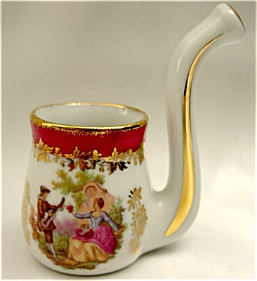 Lovely Miniature French Limoges Victorian Pipe