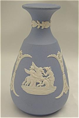 Wedgwood Blue Jasper Bud Vase (Image1)