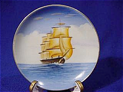 4in. Sailing Ship Plate - Occupied Japan