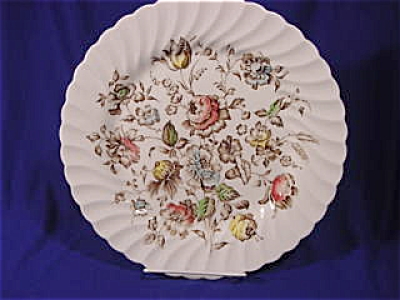 """Bouquet"" Staffordshire 10in. Dinner  Plate (Image1)"