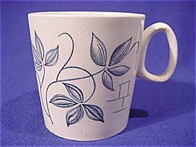 White With Blue Leaves English Teacup