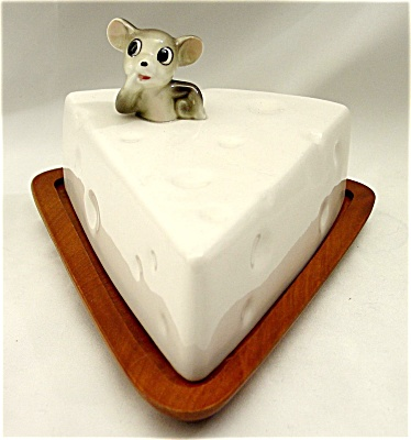 1950s Mouse and Cheese 2-Piece Cheese Board Set (Image1)