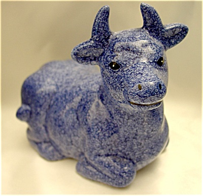 Vintage Blue Speckled Cow (Image1)