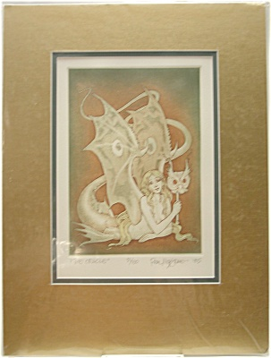'The Oracle'  Signed Etching by Real Musgrave No. 51/150 (Image1)