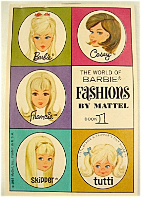 The World Of Barbie Fashions By Mattel - Book 1 - 1966