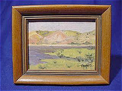 Miniature Landscape Oil Painting By Tippes