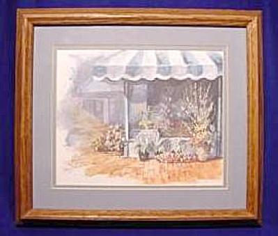 'Flower Sale' by Joy Evans Ltd. Ed. Framed Print no.78/1950 (Image1)