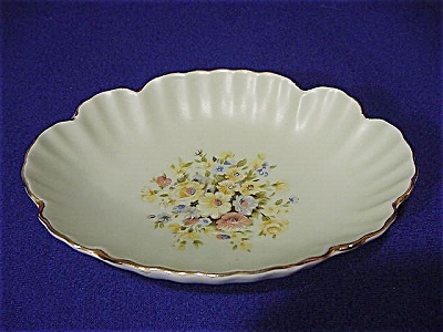 Lefton Mint Green & Floral Soap Dish