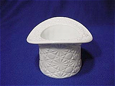 Fenton Daisy Button Milk Glass Top Hat