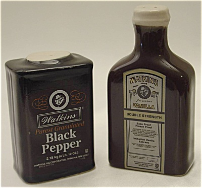 Watkins Brand Ceramic Salt and Pepper Shakers (Image1)