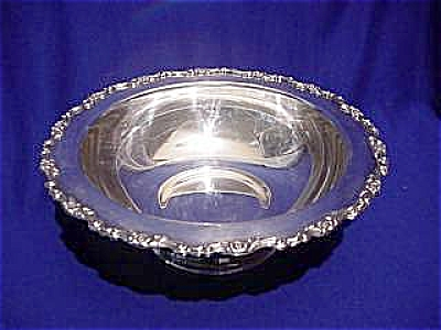 Sterling Silver Plated Wm. A. Rogers Footed Fruit Bowl (Image1)