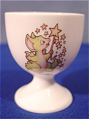 1997 Pocket Dragon Easter Egg Cup - Signed