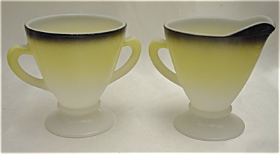 Hazel-Atlas Ovide Open Sugar And Creamer Set (Image1)