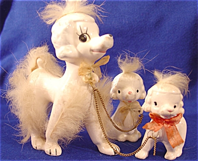 Vintage Poodle Family ~ Made in Japan (Image1)