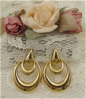 Stylish Double Draped Earrings by Napier (Image1)