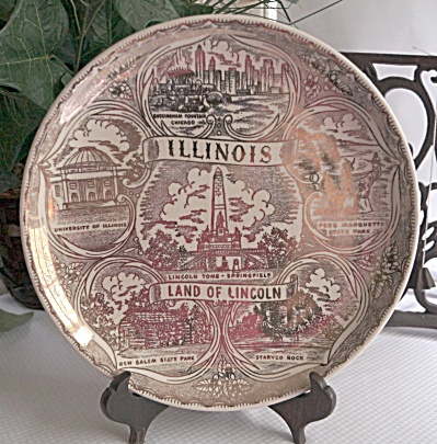 1960s Illinois State 9 Inch Plate