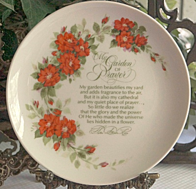 """my Garden Of Prayer"" 6.5 Inch Decorative Plate"
