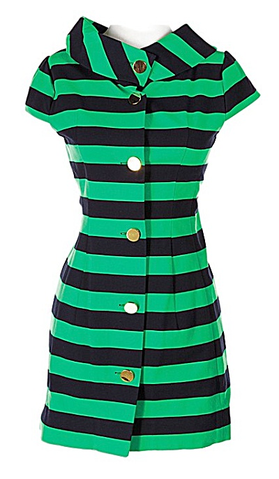 Glee's Tina Cohen-chang (Jenna Ushkowitz) Kate Spade Green/black Dress Size 6
