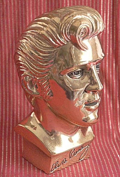 Elvis Presley 1961 Limited Edition Gold Bust  (Image1)