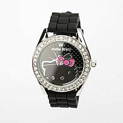 Hello Kitty Rhinestone Wristwatch