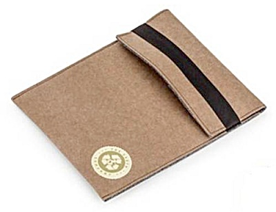 Natural Paper Ipad 10 Inch Protective Felt Lined Sleeve