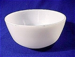 Click here to enlarge image and see more about item 002: Small White Utility Bowl by Fire King