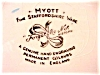 Click to view larger image of Myott Staffordshire~Forget-Me-Not~ Plate (Image3)