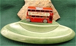 Click here to enlarge image and see more about item 022: Player's Navy Cut Double Decker Bus on Wade Tray