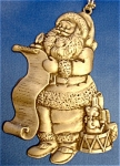 Click here to enlarge image and see more about item 037: Santa Ornament by Avon