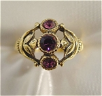 Click here to enlarge image and see more about item 046: Avon Victorian Style Amethyst  Ring