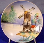 Click here to enlarge image and see more about item 100: Hand Painted Windmill Plate