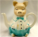 Click here to enlarge image and see more about item 108: Mister Piggy Teapot by Tony Woods